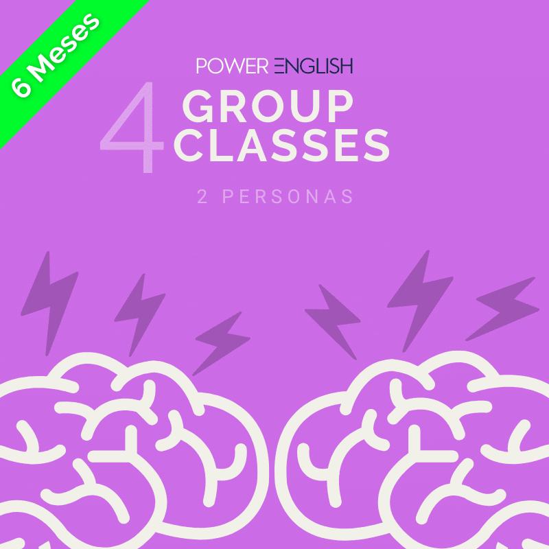 4 aulas de grupo de 6 meses